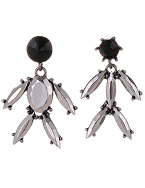 Fashion Gun Black Pure Color Design Irregular Shape Earrings