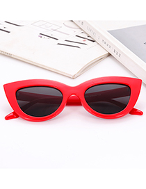 Fashion Red Pure Color Decorated Glasses