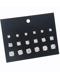 Fashion Silver Color Round Shape Decorated Earrings Sets(9 Pairs)