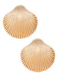Fashion Gold Color Stripe Pattern Decorated Earrings