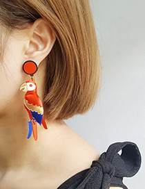 Fashion Multi-color Bird Shape Decorated Earrings