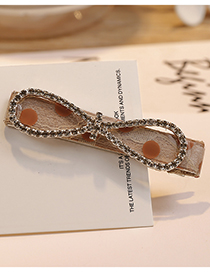 Fashion Coffee Tie Shape Decorated Hair Clip