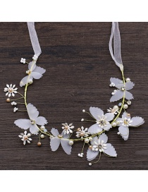 Fashion White Butterfly&flower Shape Decorated Hair Accessories