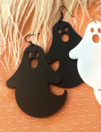 Fashion Black Ghost Shape Decorated Earrings