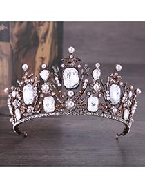 Fashion Antique Bronze Lace&diamond Decorated Bride Hair Accessories