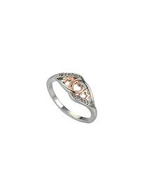 Fashion Silver Color Hollow Out Design Simple Ring