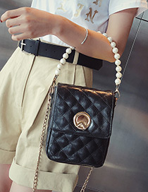 Fashion Black Grids Pattern Decorated Bag