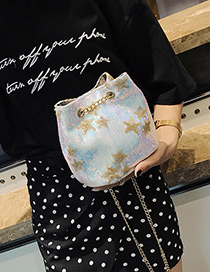 Fashion Multi-color Star Pattern Decorated Bag