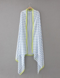 Fashion Blue Stripe Pattern Decorated Scarf