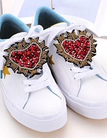 Fashion Red Heart Shape Decorated Shoe Accessories(2pcs)