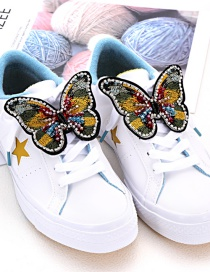 Fashion Yellow Butterfly Shape Decorated Shoe Accessories(2pcs)