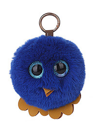 Fashion Sapphire Blue Chick Shape Decorated Keychain