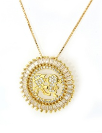 Fashion Gold Color Round Shape Decorated Necklace