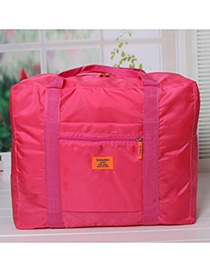 Fashion Plum Red Pure Color Decorated Storage Bag