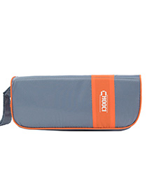 Fashion Orange+gray Color-matching Decorated Storage Bag(7pcs)