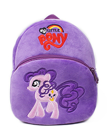 Fashion Purple Horse Shape Decorated Bag