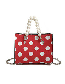 Fashion Red Spot Pattern Decorated Shouder Bag