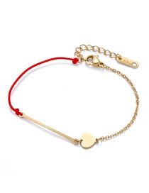 Fashion Red Heart Shape Decorated Bracelet