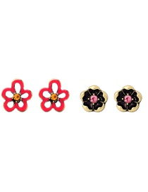 Fashion Multi-color Flowers Shape Design Earrings Sets(2 Pairs)