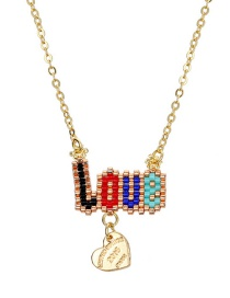 Fashion Gold Color Letter Pattern Decorated Necklace