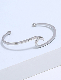 Simple Silver Color Pure Color Decorated Bracelet