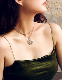 Fashion Gold Color Lions Pattern Decorated Necklace