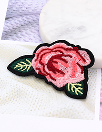 Fashion Pink Flower Shape Decorated Patch