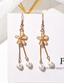 Fashion Gold Color Diamond&pearl Decorated Earrings