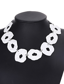 Fashion White Pure Color Decorated Hollow Out Necklace