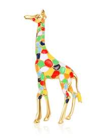 Fashion Multi-color Color Matching Design Giraffe Shape Brooch