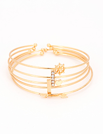 Fashion Gold Color Pure Color Decorated Bracelet(5 Pcs)