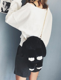 Fashion Black Rabbit Shape Design Bag