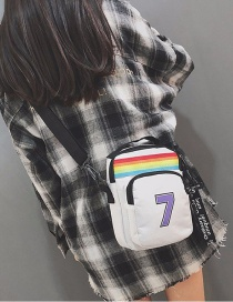Fashion White Color Matching Decorated Shoulder Bag