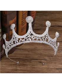 Fashion White Crown Shape Design Pure Color Hair Accessory