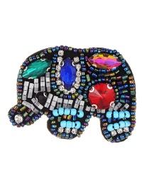 Fashion Multi-color Elephant Shape Design Color Matching Brooch