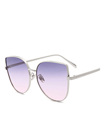 Trendy Purple Gradient-color Design Simple Sunglasses