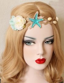 Fashion Blue Flower&star Shape Decorated Hair Accessories