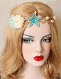 Fashion Blue Flower&star Shape Decorated Hair Accessories