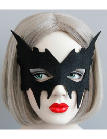 Fashion Black Pure Color Decorated Mask