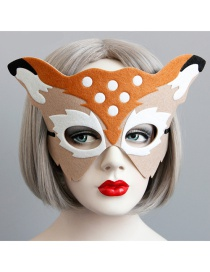 Fashion Multi-color Deer Shape Decorated Mask