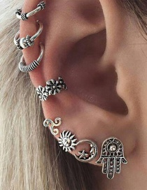 Fashion Silver Color Flower Shape Decorated Earrings Sets