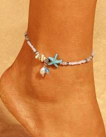 Fashion White Starfish Shape Decorated Ankle Chain