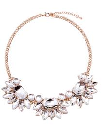 Fashion White Geometric Shape Decorated Necklace