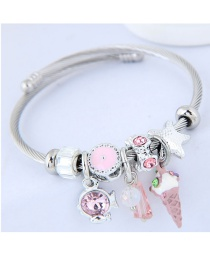 Fashion Pink Multi-element Design Bracelet