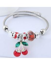 Fashion Red Cherry Shape Decorated Bracelet