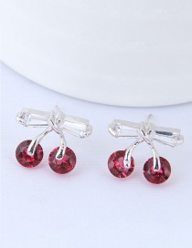 Fashion Pink Cherry Shape Decorated Earrings