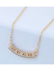 Elegant Gold Color Irregular Shape Pendant Decorated Necklace