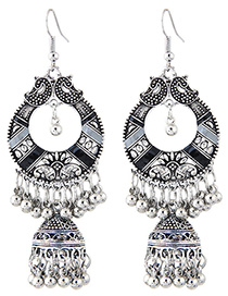Simple Silver Color Bell Shape Decorated Earrings