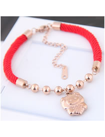 Fashion Multi-color Pig Shape Decorated Bracelet