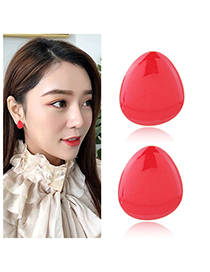 Fashion Red Pure Color Decorated Earrings